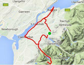 North Wales Llanberis - Caernarfon - Bangor Cycle Route