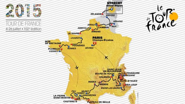 2015 Tour de France Parcours Route
