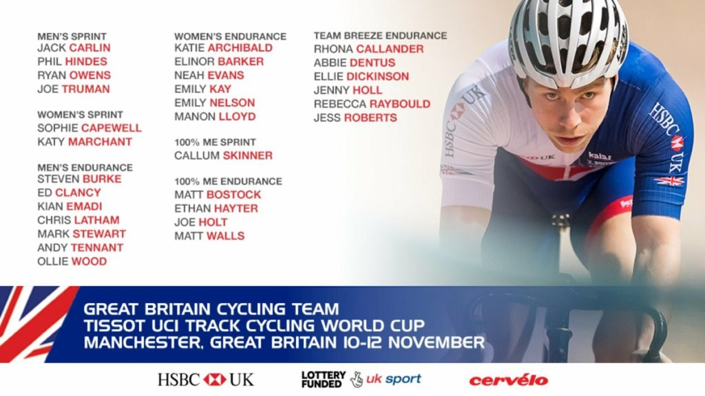 Team GB Track World Cup Team Manchester 2017