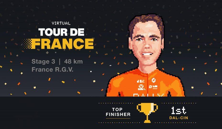 Matteo Dal-Cin wins stage 3 of V-TdF