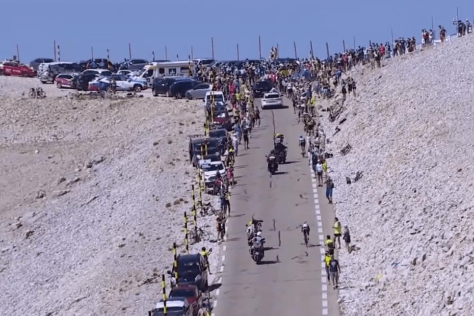 Richie Porte climbs to second atop Mont Ventoux