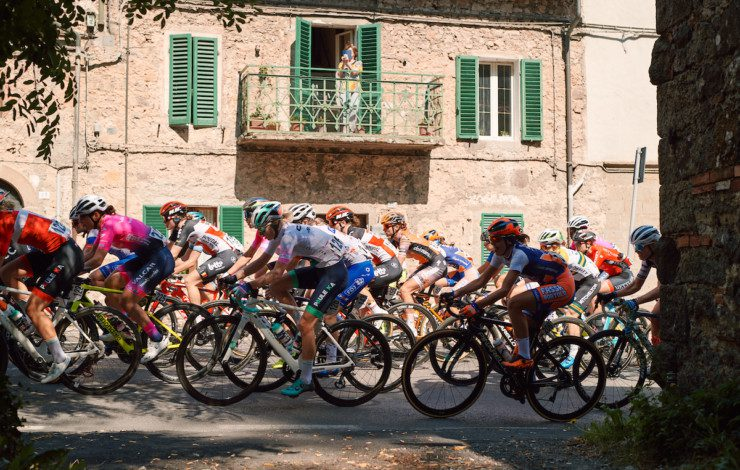 Mikayla Harvey and Elise Chabbey remain in top 10 overall after fast and furious fifth Giro Rosa stage